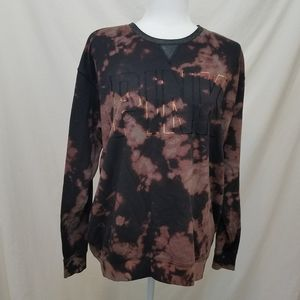 Pink Victoria Secret Bleach Dye Long Sleeve Top